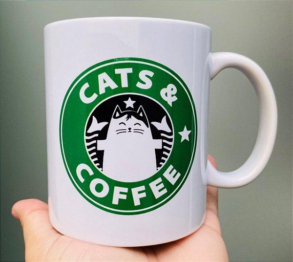 Caneca  Cats & Coffee