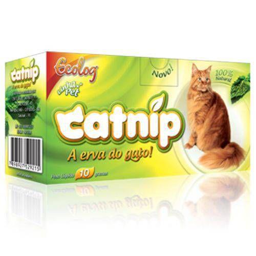 Erva Do Gato Catnip Ecolog - Caixa Com 10g