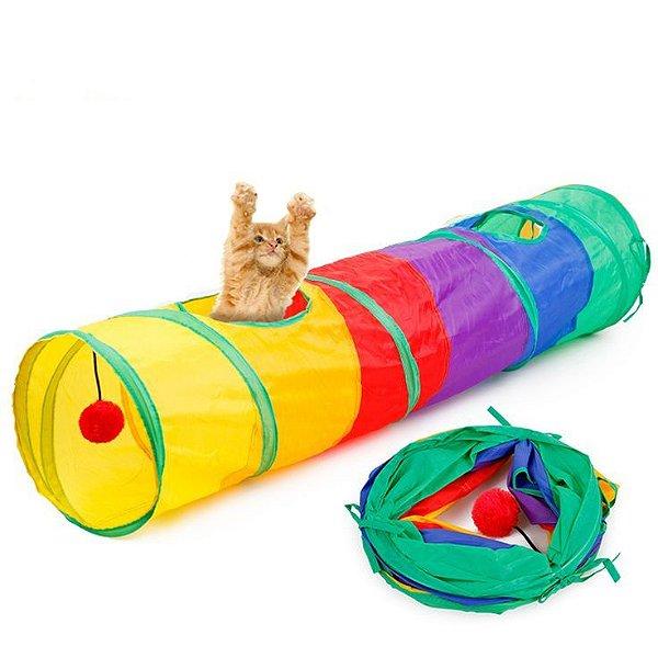 Túnel Colorido para Gatos