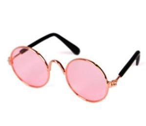 óculos rosa transparente