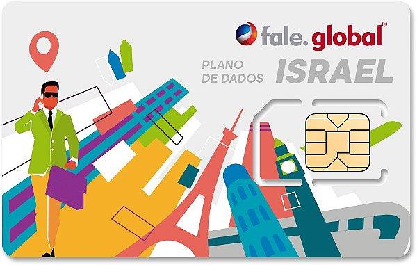 CHIP ISRAEL com 20GB - Dados - Viagens até 30 dias