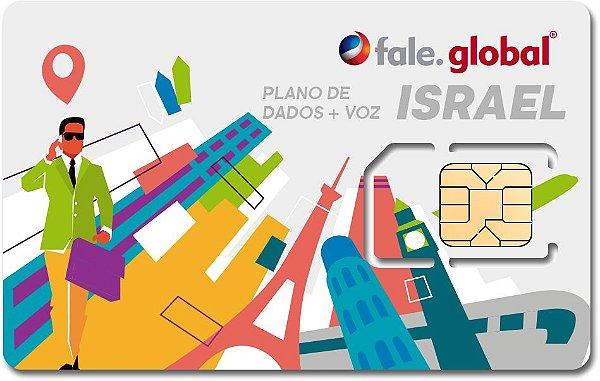 CHIP ISRAEL com 20GB - Dados e Voz - Viagens até 30 dias
