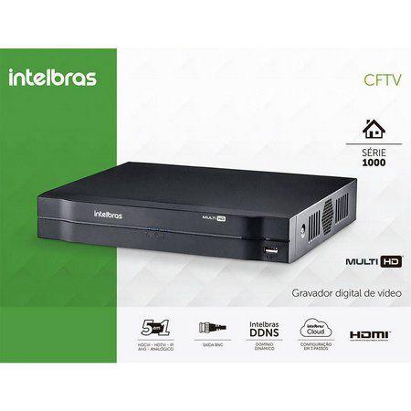 DVR INTELBRAS 08 CANAIS MULTI FULL HD 1080N ALTA RESOLUÇÃO MHDX 1108