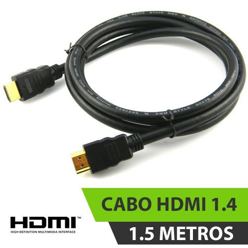 CABO HDMI 1.4 PRETO 1,5M COM FILTRO ESPECIAL