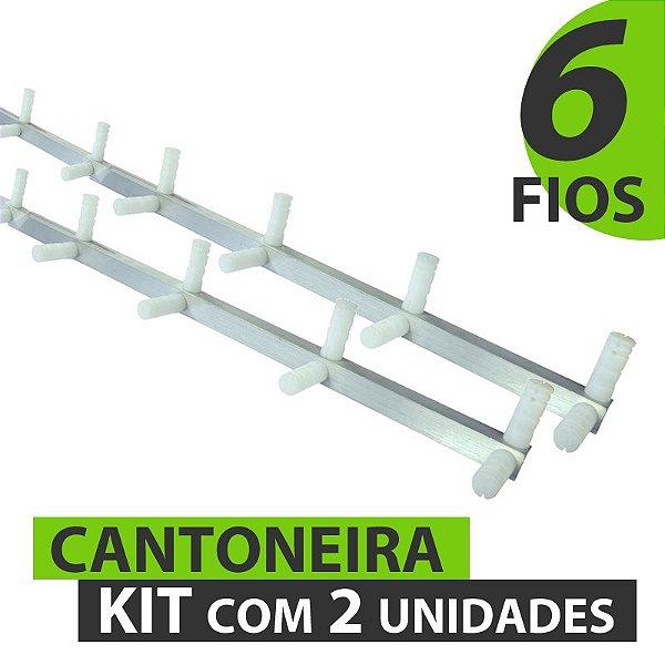 CANTONEIRA COM 6 FIOS (12 ISOLADORES) 1 M - KIT COM 2