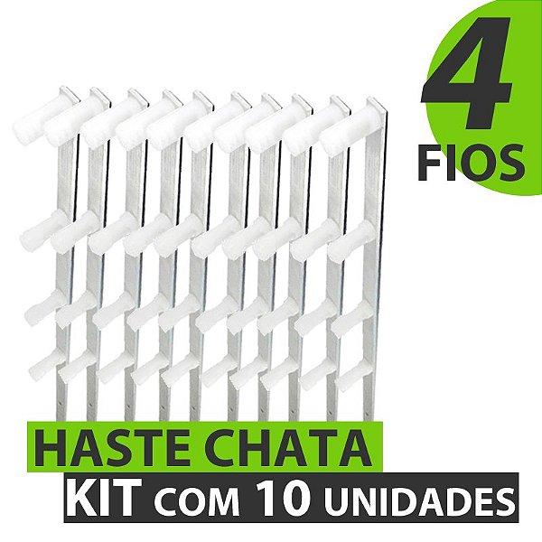 HASTE COM 4 FIOS 75 CM - KIT COM 10