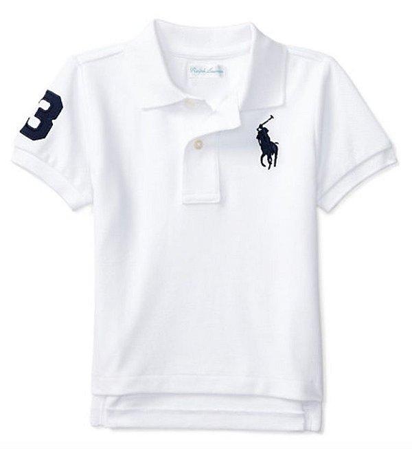 Camisa Polo Branca Ralph lauren - Petit Look 650d6357e6f