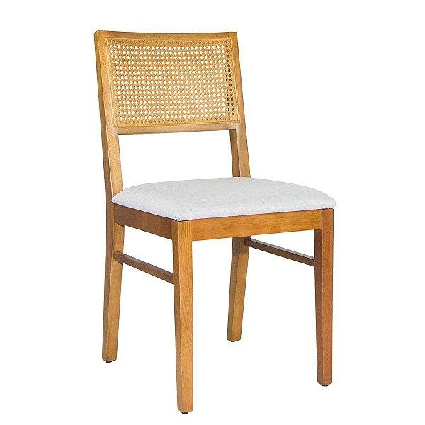 Cadeira Madeira Virgo Para Mesa de Jantar Tela Sextavada