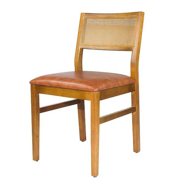 Cadeira Madeira Zafira Para Mesa de Jantar Courino