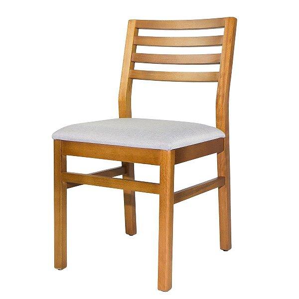 Cadeira Madeira Diamante Ripado Para Mesa de Jantar
