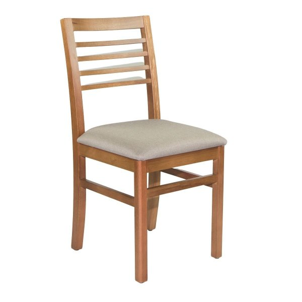 Cadeira Madeira Atalanta Ripada Mel Para Mesa de Jantar