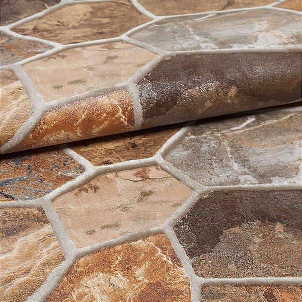 Papel De Parede Importado Vinílico Lavável Textura Em Relevo 2215
