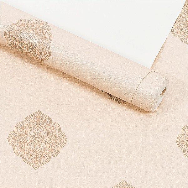 Papel de Parede Importado Vinílico Lavável Textura em Relevo Arabesco 5825