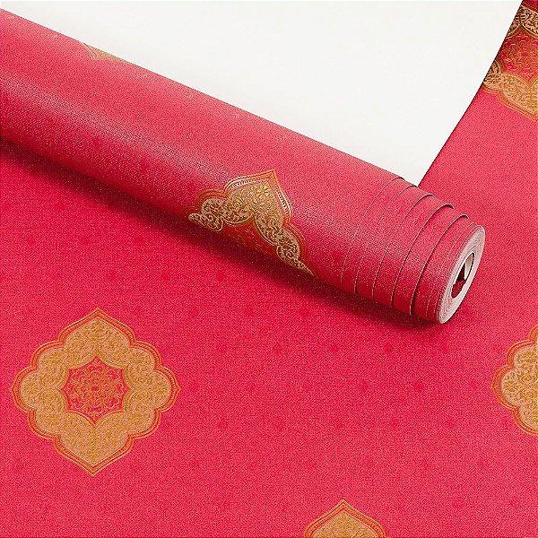 Papel de Parede Importado Vinílico Lavável Textura em Relevo Arabesco 5828