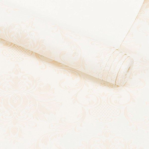 Papel de Parede Importado Vinílico Lavável Textura em Relevo Arabesco 5892