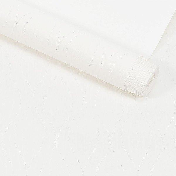 Papel de Parede Dekor Textura Em Relevo Geométrico Com Gliter
