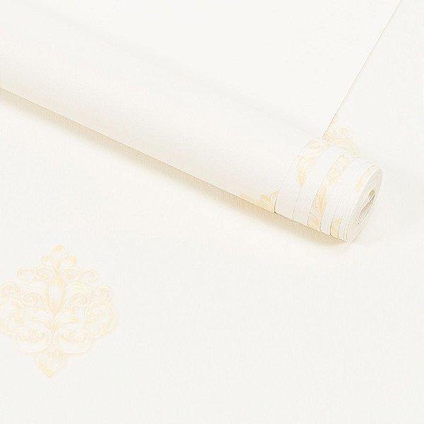 Papel de Parede Importado Vinílico Lavável Textura em Relevo Arabesco 8113