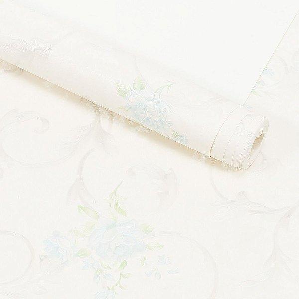 Papel de Parede Importado Vinílico Lavável Textura em Relevo Floral 8154