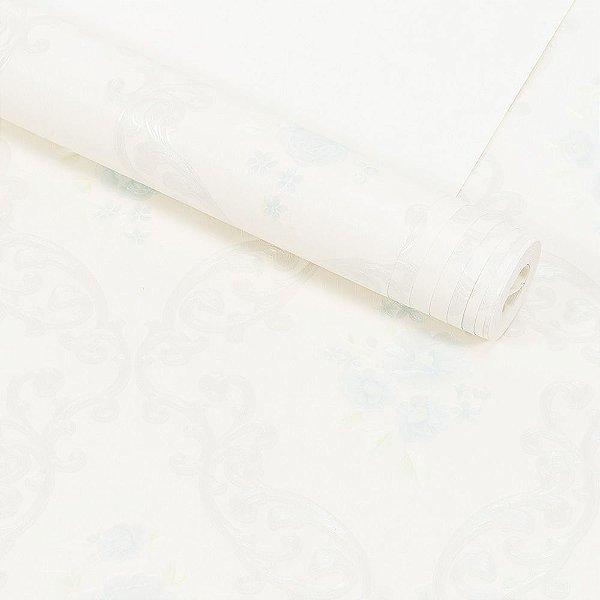Papel de Parede Importado Vinílico Lavável Textura em Relevo Floral 58104