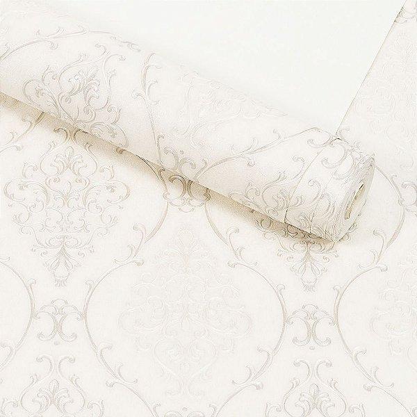 Papel de Parede Importado Vinílico Lavável Textura em Relevo Arabesco 81122