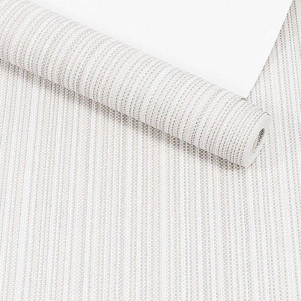 Papel de Parede Dekor Importado Lavável Textura Em Relevo Geométrico 058