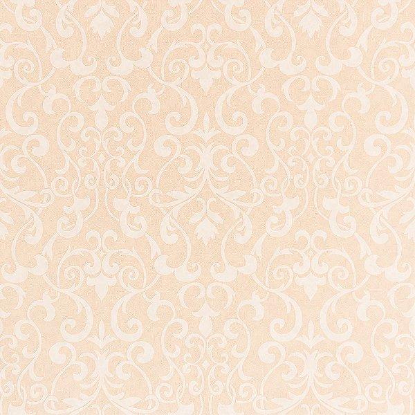 Papel de Parede Importado Vinílico Lavável Textura em Relevo Arabesco 66016
