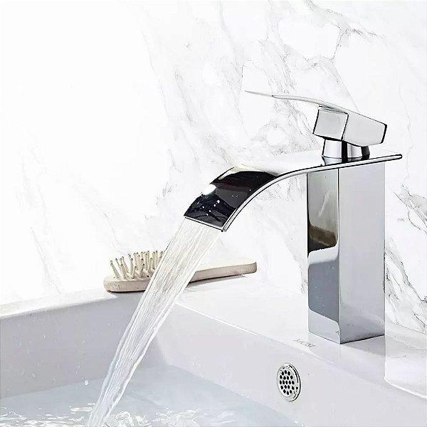 Torneira Cascata Para Banheiro Misturador Monocomando Baixa