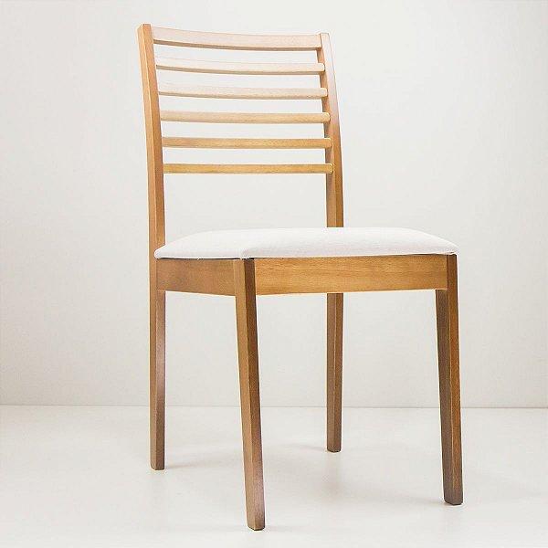 Cadeira Madeira Eco Estofada para Mesa de Jantar