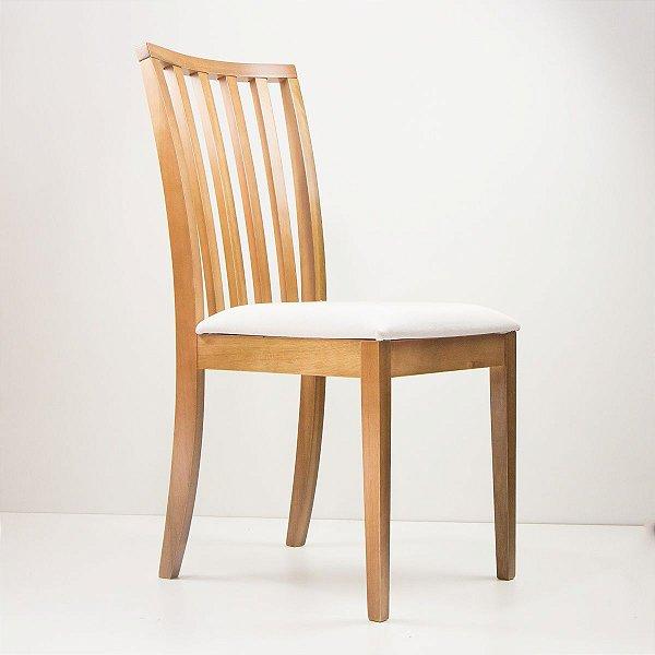 Cadeira Madeira Juno Estofada para Mesa de Jantar