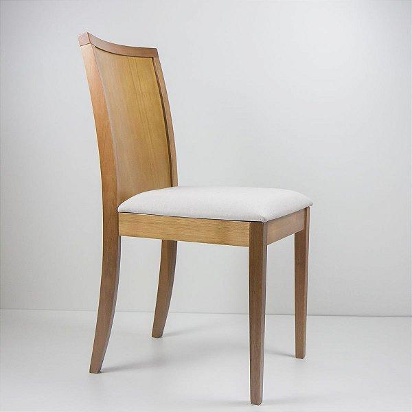 Cadeira Madeira Enzo Estofada Encosto Multilaminado para Mesa de Jantar