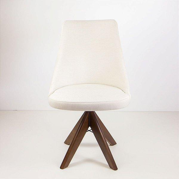 Cadeira Madeira Bela Giratória para Mesa de Jantar