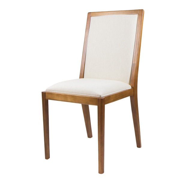 Cadeira Madeira Columbia Estofada para Mesa de Jantar