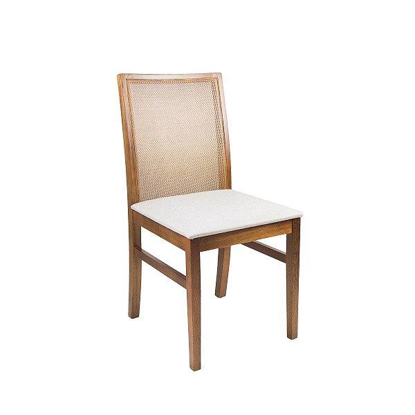 Cadeira Madeira Franca Estofada Tela Slim para Mesa de Jantar