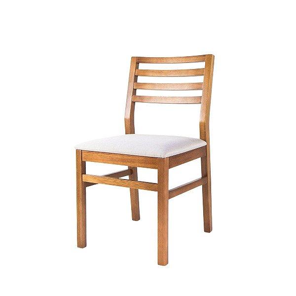 Cadeira Madeira Vega Estofada Ripada para Mesa de Jantar