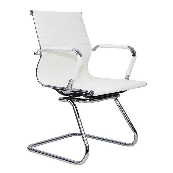 Cadeira Escritório Charles Eames Interlocutor Fixa Cor Off White