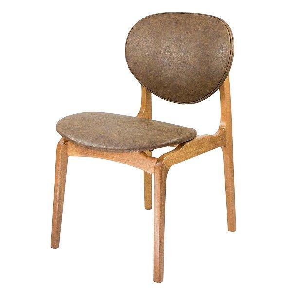 Cadeira Para Mesa de Jantar Atenas Courissimo Cacau