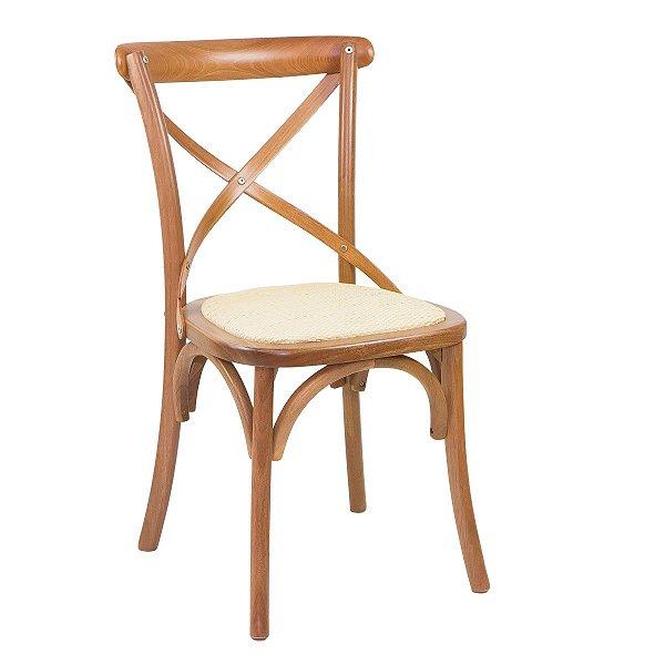 Cadeira Madeira Para Mesa de Jantar Xangai Madeira Maciça e Palha