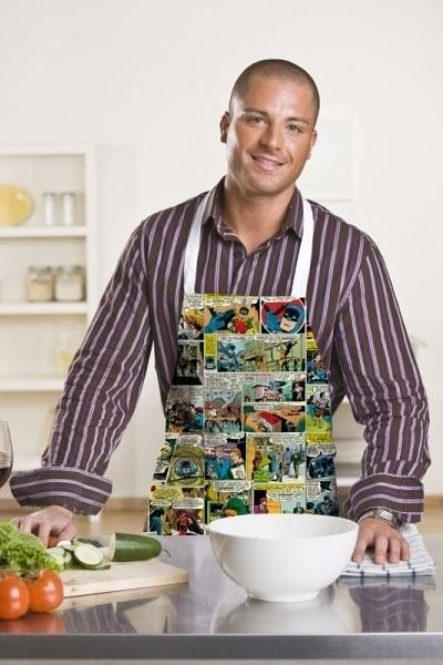 Avental de cozinha Batman e Super Homem - DC Comics