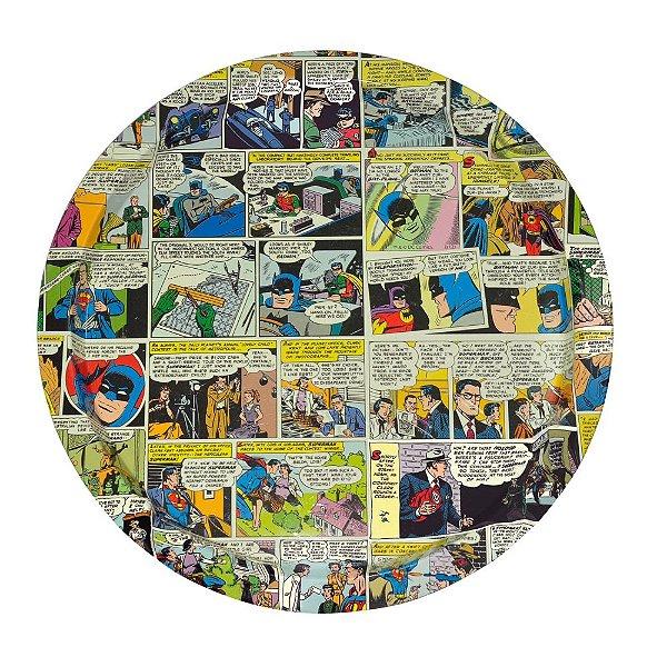 Badeja de metal redonda quadrinhos coloridos DC Comics