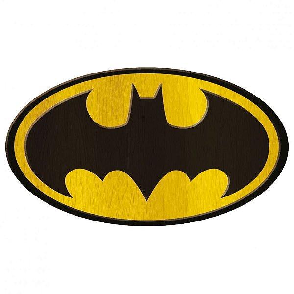 Placa de madeira Batman logo - DC Comics