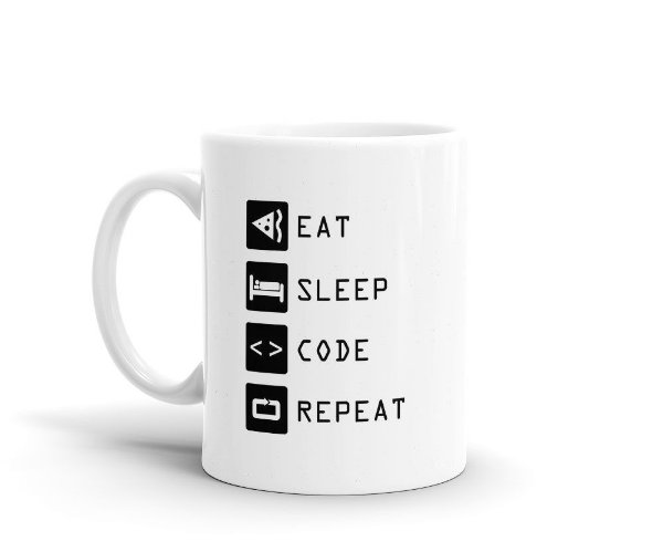 Caneca Code Eat Sleep Repeat