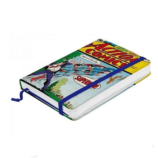 Caderneta de anotação Papel Super Man Action - DC COMICS