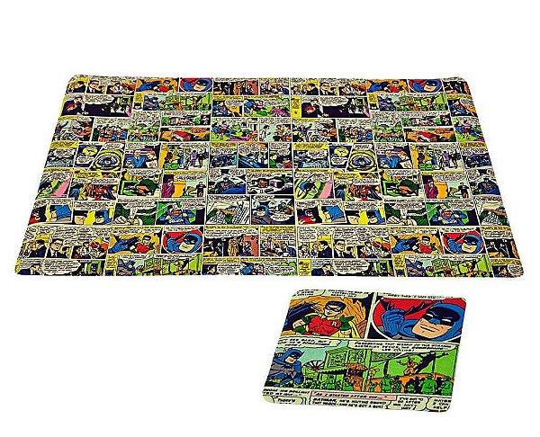 Jogo americano (12 peças) - 6 jogos americanos e 6 porta copos PVC - DC Comics