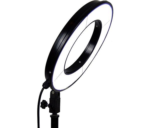 Iluminador Ring Light Raio de Sol 33cm de Diâmetro 25w com base Articulada