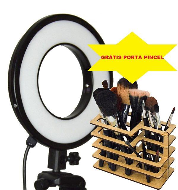 Iluminador LED Ring Light 25w - Luz da Lua - 28cm Diâmetro - Foto e Make