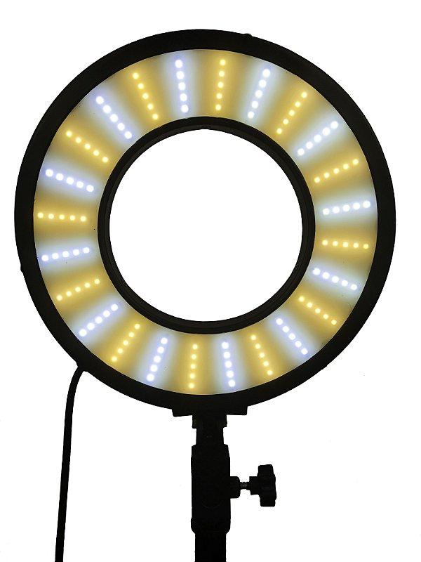 Ring Light 25w Raio de Sol 28cm Diâmetro com 3 Temp Cor; Com Base Articulada - Foto Make