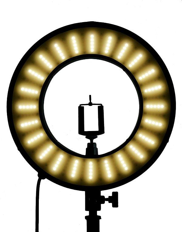 Ring  Light 33 cm de diametro Com Tripé- Iluminador Refletor 25w - Com Suporte para Celular e Articulação - Foto Make up