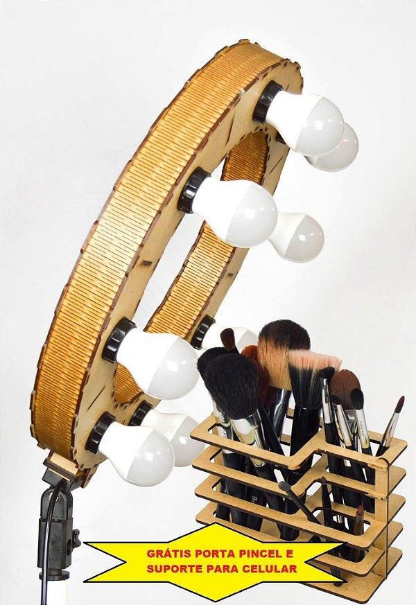Iluminador LED Ring Light LDV45 - 45cm Diâmetro - Foto e Make