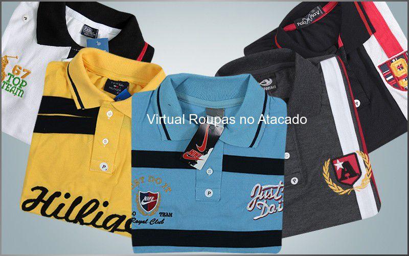 Camisa Polo Tipo Exportação - Pacote 5 Peças