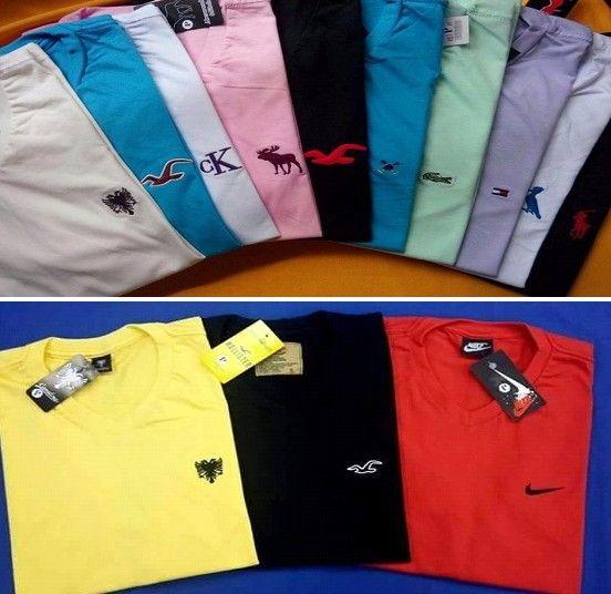 12 Camisetas sò com Logo Gola V ou Redonda.